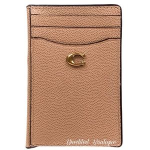 COACH Card Holder Wallet In Beechwood Leather